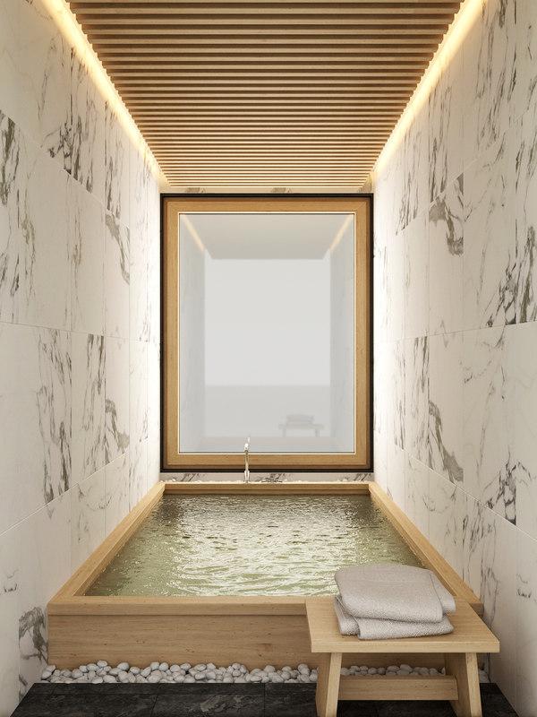 Japanese bath shower 3D model - TurboSquid 1318359