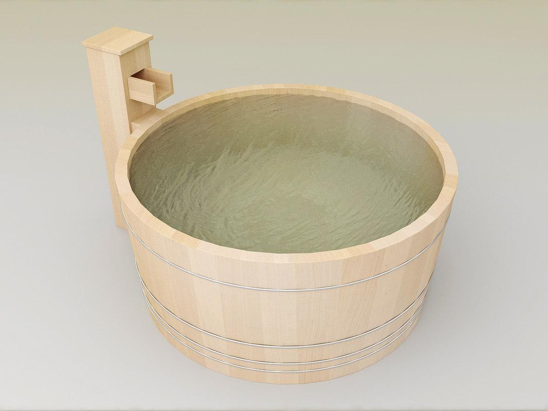japanese bath shower 3D