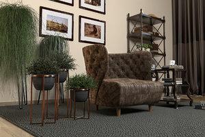 3D living room corona
