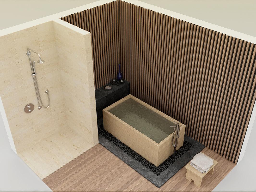 japanese bath shower model