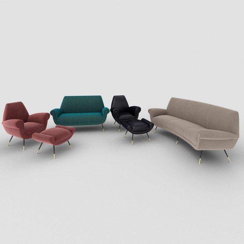 minotti albert sofa 3D model