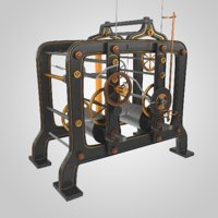 tower clock mechanism model