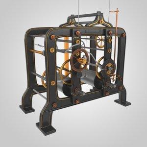tower clock mechanism model