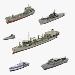 iranian navy ship 3D model