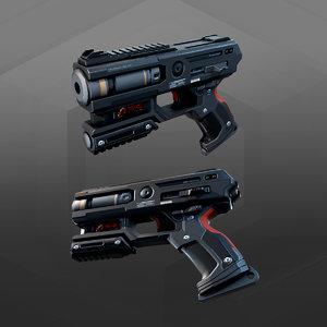 handgun ak2 3D model