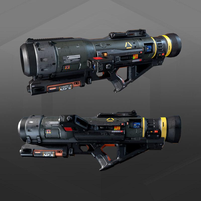 3D sf rocket launcher ak9 model