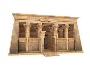 egyptian temple kalabsha 3D model