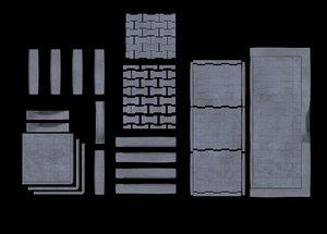 3D set modular pavement sett
