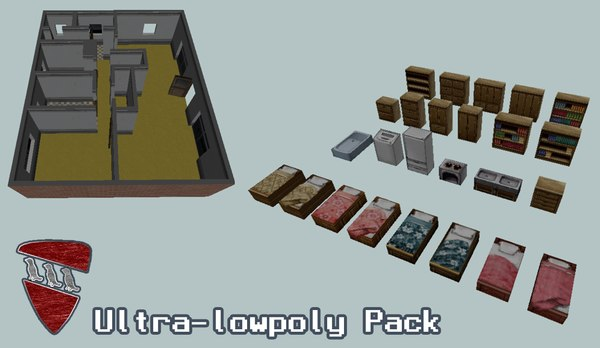 props house objects 3D