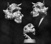 3D model creature skull - pin