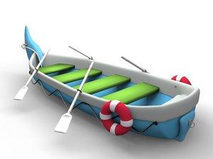 3D rubber boat model