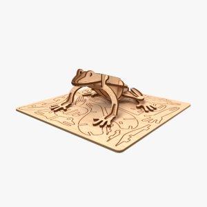 frog laser cut 3D model