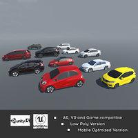 3D realistic car ar vr
