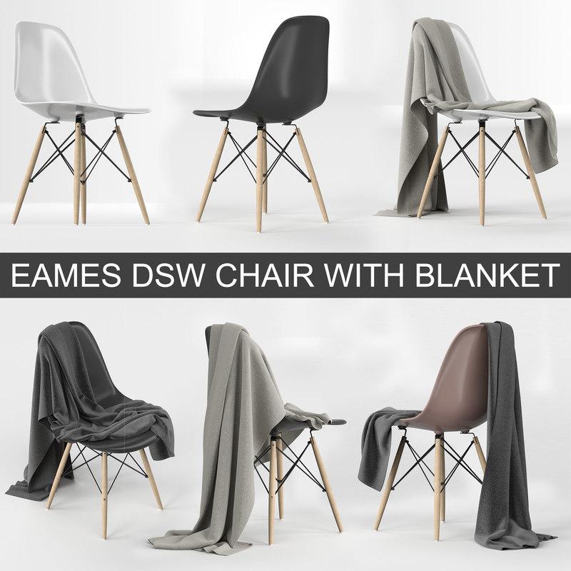 vitra eames plastic chair 3D model