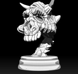monster skull figurine 3D model