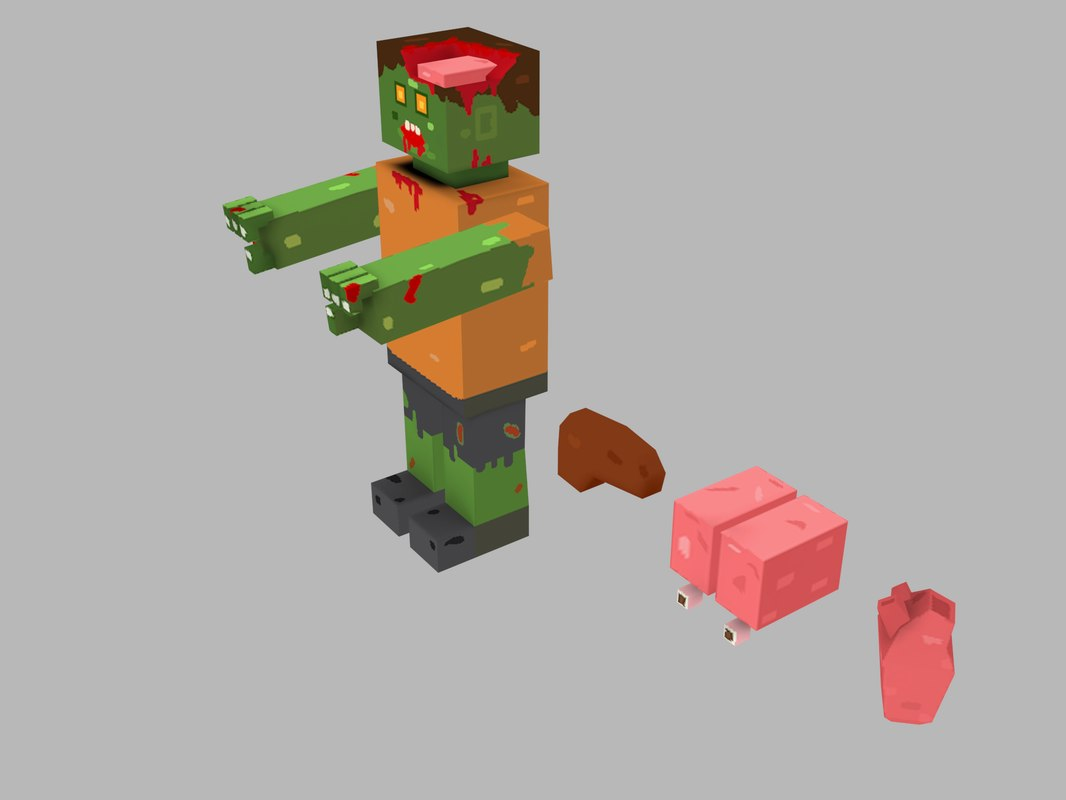 3D zombie cartoon model