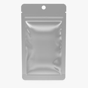 silver foil clear packaging 3D model