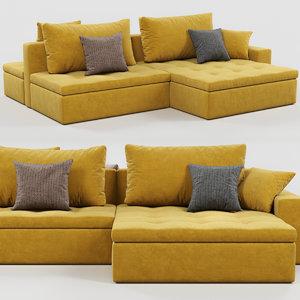 3D model calligaris lounge sofa