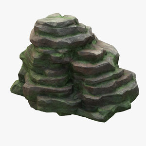 mossy cliff 3D model