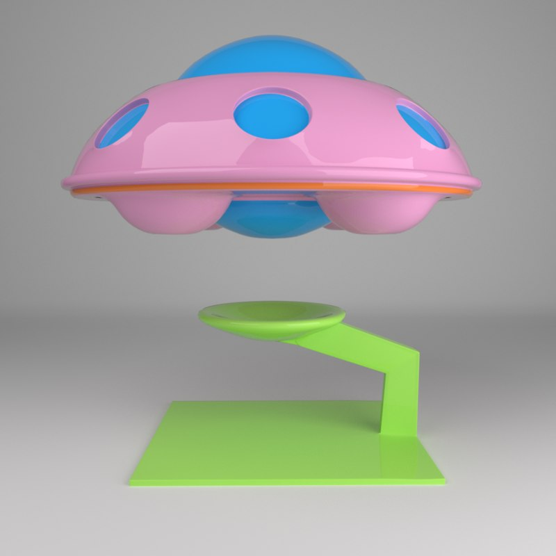 3D ufo spaceship base