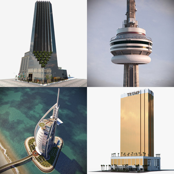 skyscraper trump tower model