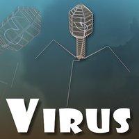virus biology scene 3D model
