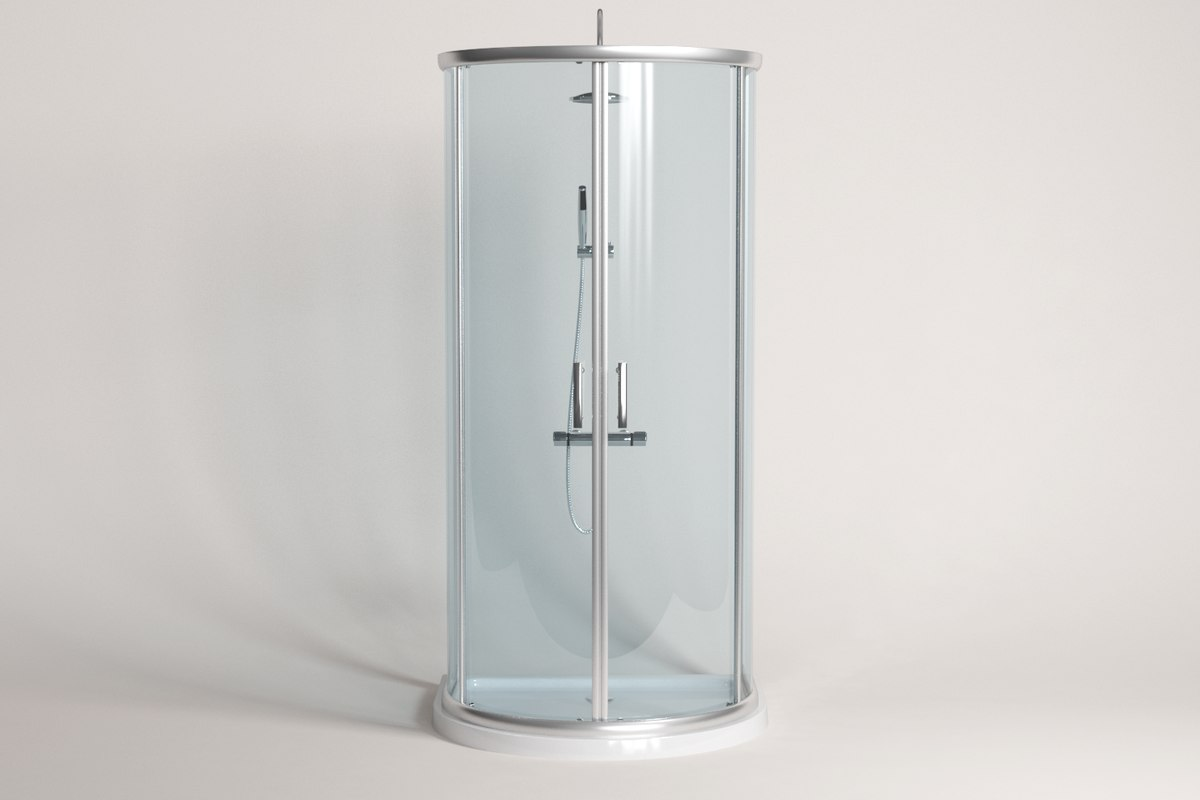 Luxury d-shape shower enclosure 3D - TurboSquid 1318568