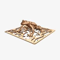 frog laser cut animation 3D model