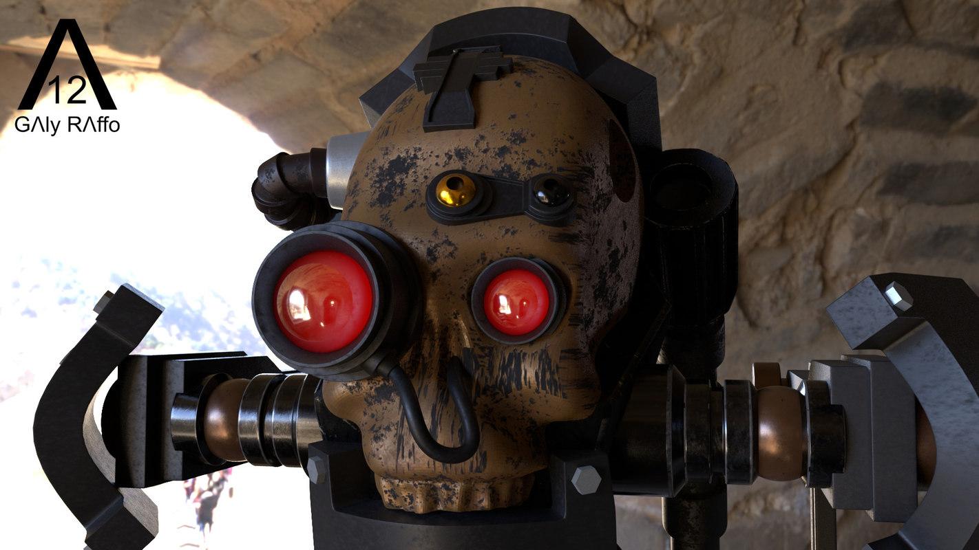 servo skull 3D model