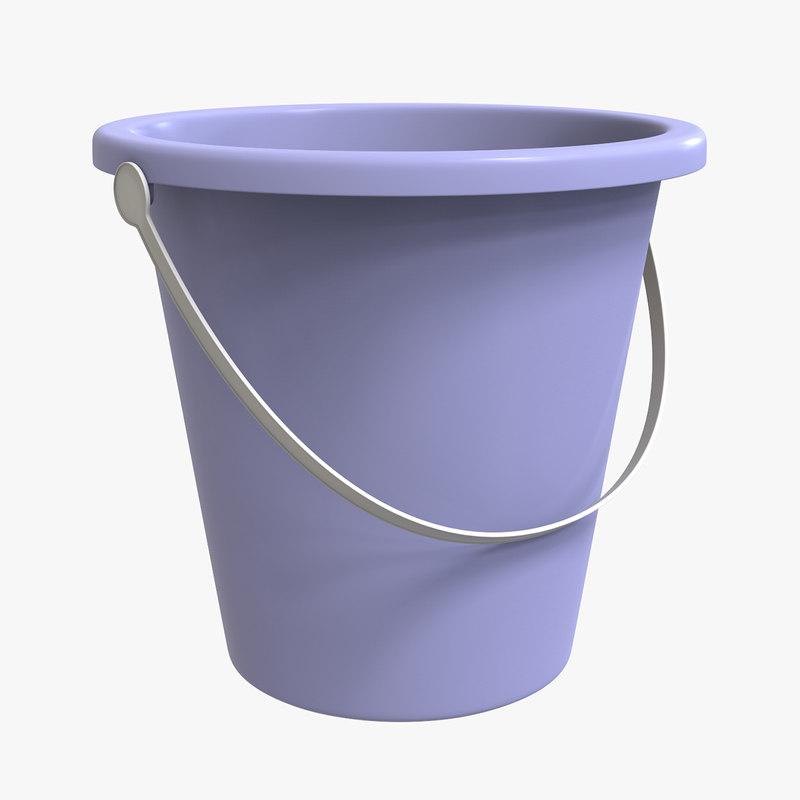 plastic bucket 3D model