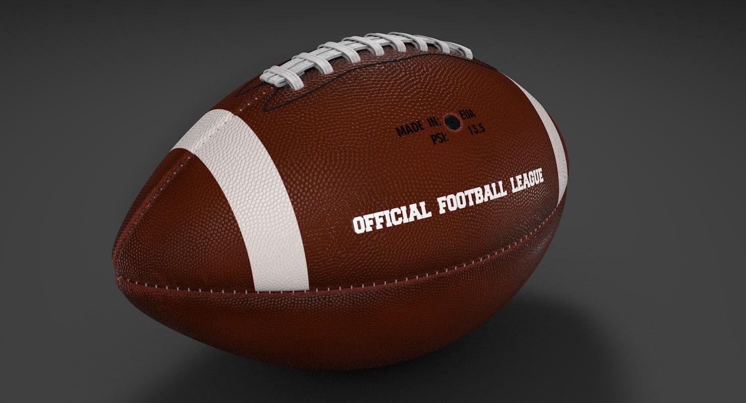 3D american football sports model
