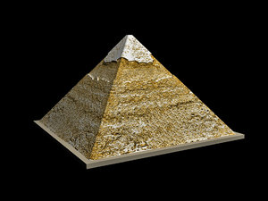 egyptian pyramid khafre 3D model