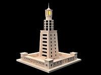 3D lighthouse alexandria