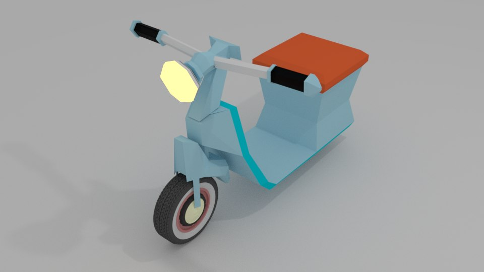 scooter bike motercycle 3D
