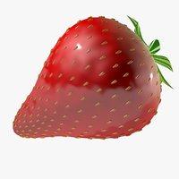 3D strawberry 1 model