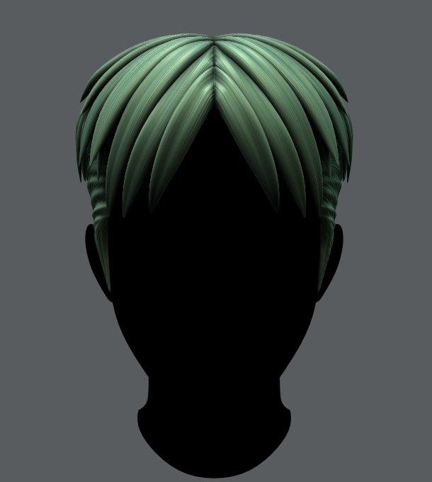 hair style man v08 model