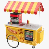 Hot Dog Food Cart