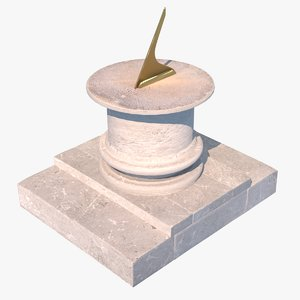 3D model sundial warsaw