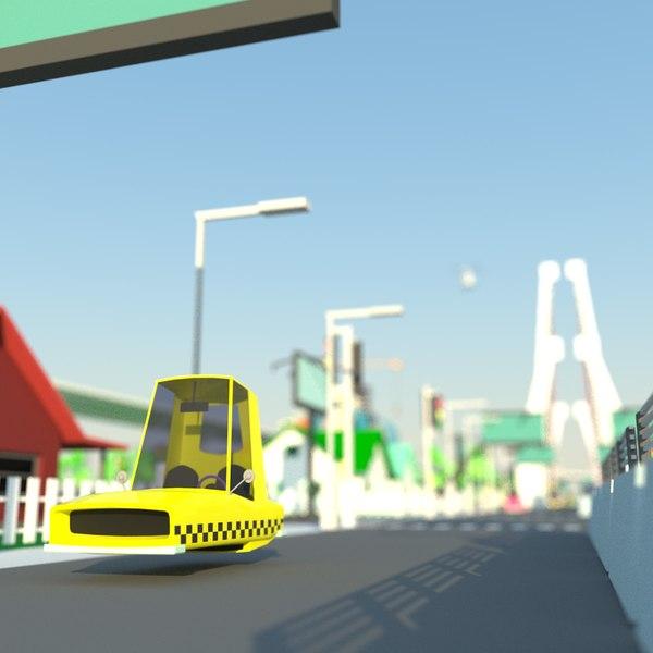 city transport 3D model