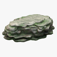 3D mossy mountain