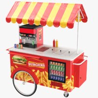 Hamburger Food Cart
