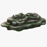 mossy rock 3D model
