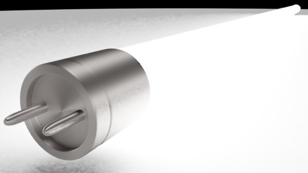 fluorescent lamp 3D