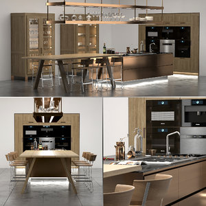 3D italiana arclinea kitchen