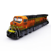 3D model ge locomotive