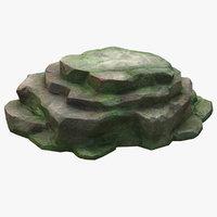 3D mossy stones
