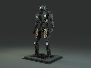 3D robot rigged design
