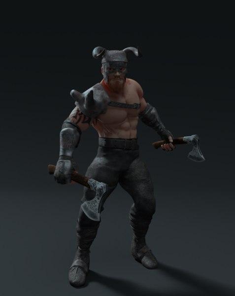 3D model viking