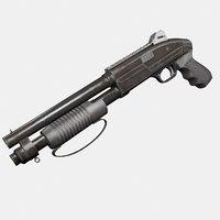 assault shotgun 3D model