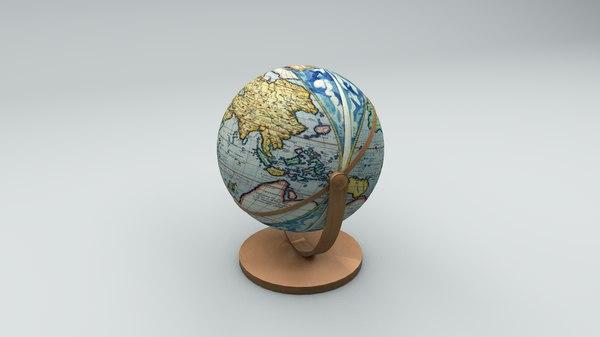 3D world globe model